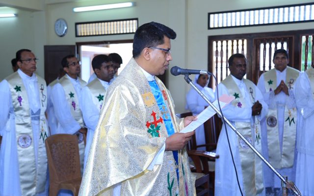 Installation of Fr. Eugene Benedict OMI, as the Provincial Superior, at Thodarpaham.